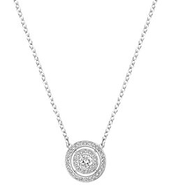 Swarovski® Silvertone Abstract Light Necklace