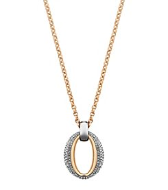 Swarovski® Two Tone Circlet Pendant Necklace