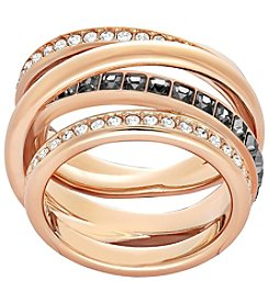 Swarovski® Rose Goldtone Dynamic Ring