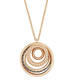 Swarovski® Rose Goldtone Dynamic Medium Pendant Necklace