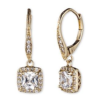 Anne Klein® Goldtone Cubic Zirconia Drop Earrings