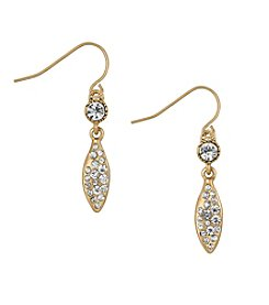 The Sak® Goldtone Small Pave Leaf Drop Earrings