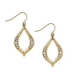 The Sak® Goldtone Open Pave Drop Earrings