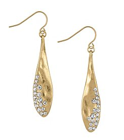 The Sak® Goldtone Large Pave Teardrop Earrings