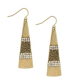 The Sak® Goldtone Pave Paddle Drop Earrings