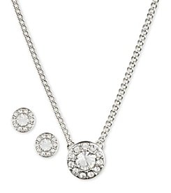 Givenchy® Silvertone Necklace & Earrings Set