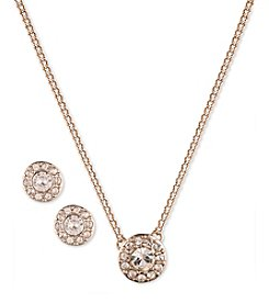 Givenchy® Rose Goldtone Necklace & Earrings Set