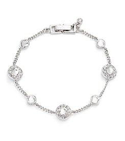 Givenchy® Silvertone Crystal Bracelet