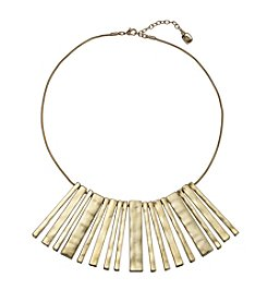 Lauren Ralph Lauren Goldtone Downtown Chic Neckwire With Bar Drop