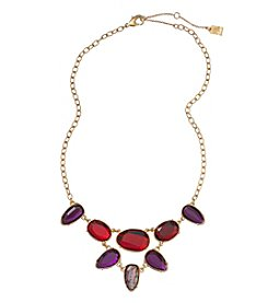 Lauren Ralph Lauren Goldtone Haute Holiday Red Multicolor 16