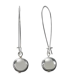 Lauren Ralph Lauren Modern Luxe Silvertone/Crystal Bead Earrings