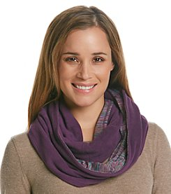 Cuddl Duds® Reversible Fleece To Jersey Infinity Scarf