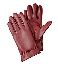 Isotoner Signature® Leather Gloves With Interlocking Knot
