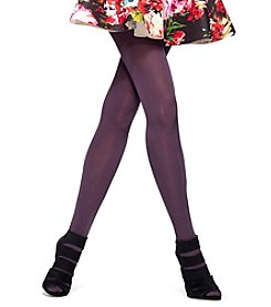 HUE® Luster Tights With Control Top-Smoky Purple