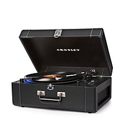 Crosley® Keepsake Black Deluxe Portable USB Turntable