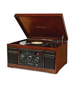 Crosley® Patriarch 4-in-1 Mahogany Entertainment Center