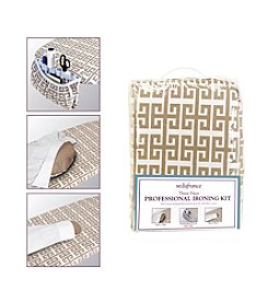 SedaFrance 3-Piece Professional Ironing Kit in Greek Key Taupe