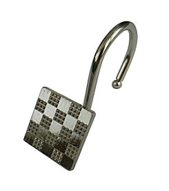 Elegant Home Fashions® Checker Shower Hooks