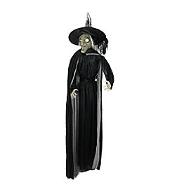 6' LED Light Battery Operated Scary Witch with Cape