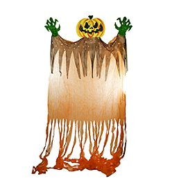 11' Scary Hanging Jack-O-Lantern with Monster Hands