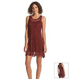 Wallflower® Lace Overlay Swing Dress