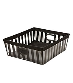 The Macbeth Collection® Black Striped Shelf Tote