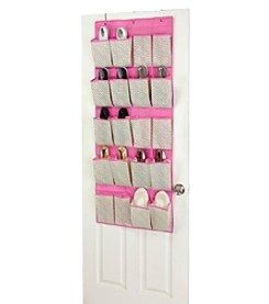 ClosetCandie Hot Pink 20-Pocket Shoe Organizer