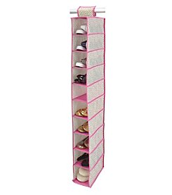 ClosetCandie Hot Pink 10-Shelf Shoe Organizer