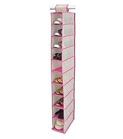 ClosetCandie Hot Pink 10-Shelf Shoe Organizer