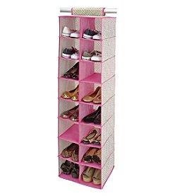 ClosetCandie Hot Pink 16-Pocket Shoe Organizer