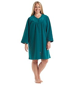Miss Elaine® Plus Size Size Zip Robe