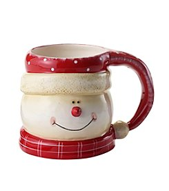 Certified International Snow Pals Red Mug