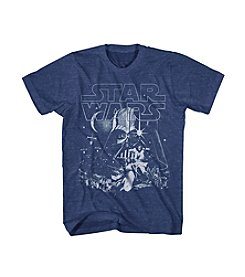 Mad Engine Men's Short Sleeve Star Wars Sky Reach Tee