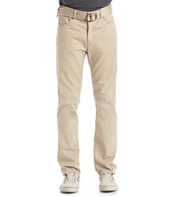 Union Bay® Men's 5-Pocket Belted Stretch Pant