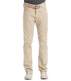 Union Bay® Men's 5-Pocket Belted Stretch Pant