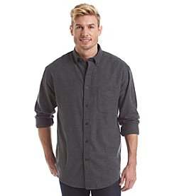John Bartlett Consensus Men's Long Sleeve Flannel Herringbone Button Down