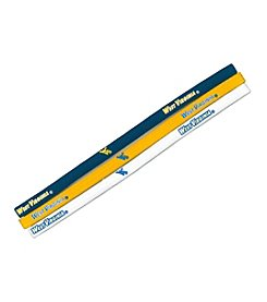 Little Earth NCAA® West Virginia University Elastic Headbands - Set of 3