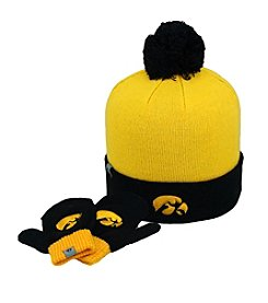 NCAA® University of Iowa Child's Hat & Mitten Set
