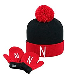 University of Nebraska Child's Hat & Mitten Set