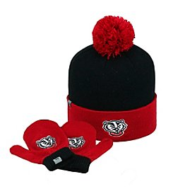 University of Wisconsin Kids Hat & Mitten Set