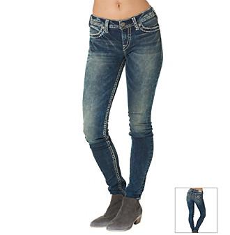 Silver Jeans Co. Suki Acid Wash Skinny Jeans