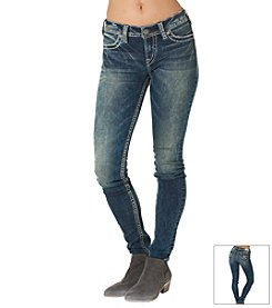 Silver Jeans Co. Suki Acid Wash Skinny Jeans