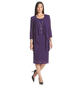 R&M Richards® Petites' Draped Jacket Dress