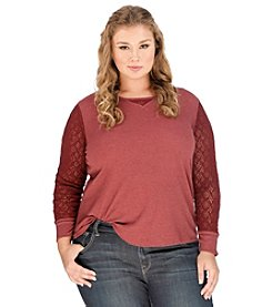 Lucky Brand® Plus Size Lace Mixed Thermal