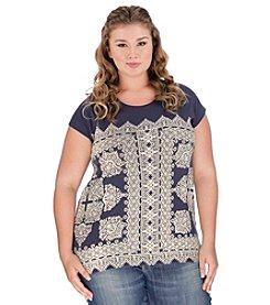 Lucky Brand® Plus Size Scarf Tee