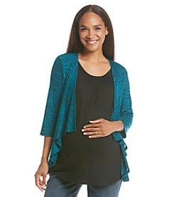 Three Seasons Maternity™ Drape Layered Look Cardigan