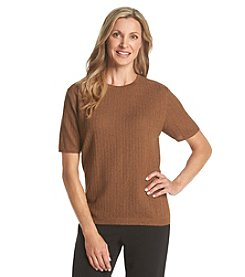 Alfred Dunner® Solid Textured Sweater