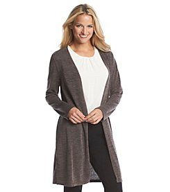 Notations® Solid Long Sleeve Duster