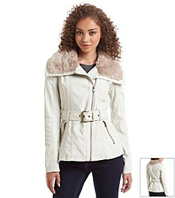 Jessica Simpson Belted Asymmetric Zip Jacket