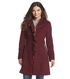 T Tahari® Ruffle Front Wool Coat